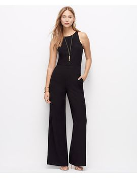 petite-sheer-paneled-jumpsuit by ann-taylor