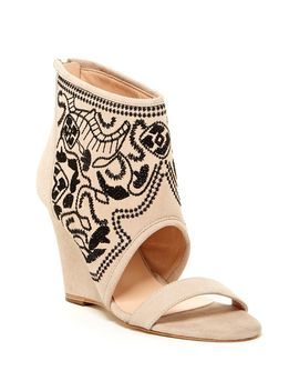 paula-embroidered-wedge-sandal by plomo