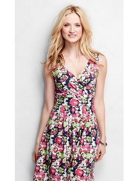 womens-fit-and-flare-dress---print by lands-end