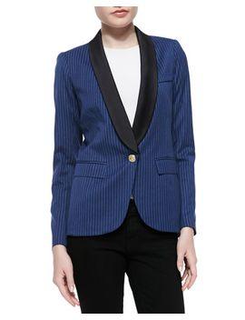 dickens-half-sleeve-pinstriped-blazer by smythe