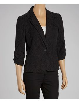 black-lace-blazer---women by zulily