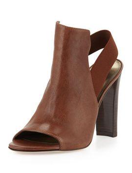 fronton-slingback-peep-toe-bootie,-walnut by stuart-weitzman