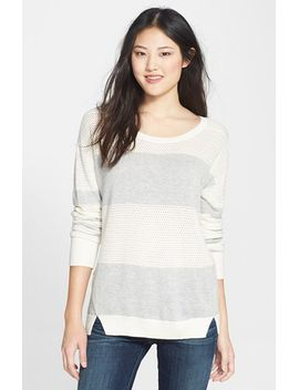 mixed-stitch-crewneck-sweater by caslon®