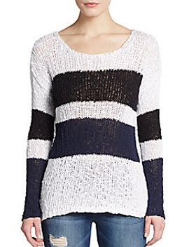 striped-cotton-knit-pullover by c&c-california