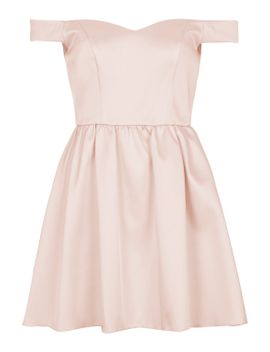petite-exclusive-satin-prom-dress by topshop