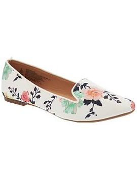 womens-patterned-smoking-flats by old-navy