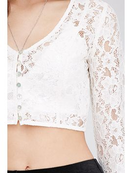 lace-bell-sleeve-top by forever-21