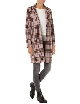 alice-&-you-pink-check-cacoon-coat by dorothy-perkins