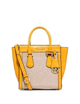 colette-medium-embossed-leather-and-canvas-messenger by michael-kors