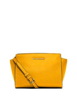 selma-medium-saffiano-messenger-bag,-sun by michael-michael-kors