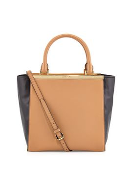 lana-medium-colorblock-tote-bag,-suntan_black by michael-michael-kors