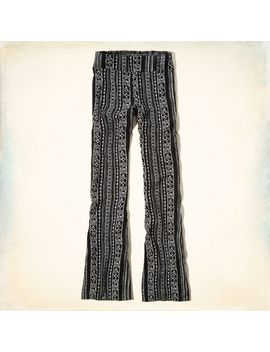 printed-flare-pants by hollister
