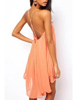 backless-sling-strap-back-chiffon-apricot-party-dress by romwe