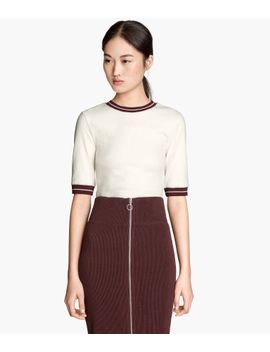 fitted-jersey-top by h&m