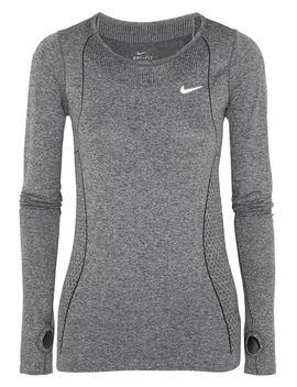 dri-fit-knit-stretch-jersey-top by nike