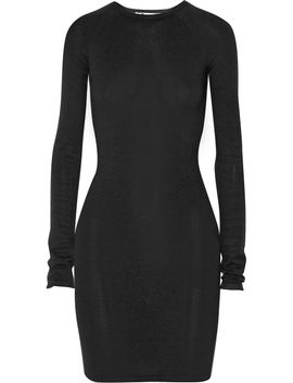 the-outnetribbed-stretch-jersey-mini-dress by t-by-alexander-wang