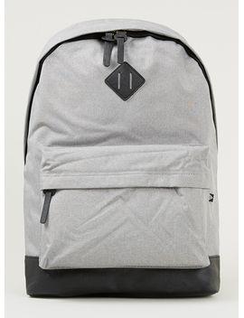 grey-melange-backpack by topman