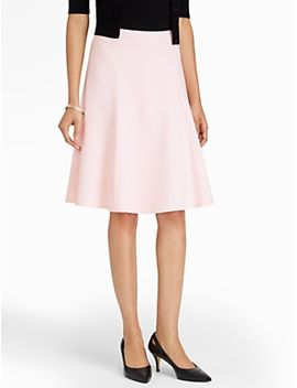 flared-crepe-skirt by talbots