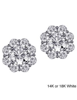 14k_18k-gold-1-7_10ct-tdw-scalloped-diamond-halo-stud-earrings by generic