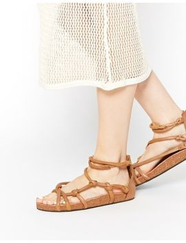 free-people-redlands-gladiator-footbed-leather-flat-sandal by free-people
