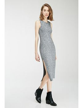 marled-side-slit-dress by forever-21