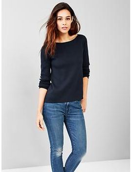 boatneck-a-line-sweater by gap