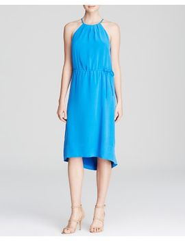 florilege-drawstring-silk-dress by joie