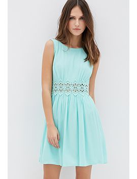 crochet-paneled-crepe-dress by forever-21