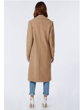 khloe-oversized-premium-waterfall-coat-camel by missguided