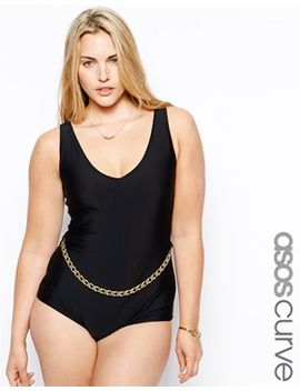asos-curve-swimsuit-with-chain by asos-curve