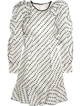 liora-flocked-woven-silk-mini-dress by erdem