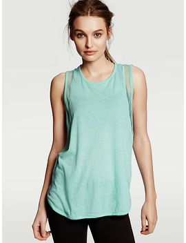 new!-mixed-mesh-tank by victorias-secret