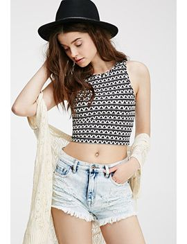 tribal-print-crop-top by forever-21