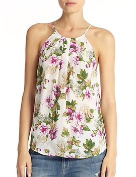 amarey-pleated-floral-print-silk-tank by joie