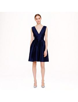 collection-pleated-twill-dress by jcrew