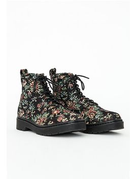 lace-up-embroidered-print-ankle-boots by missguided