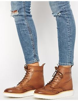 asos-alby-leather-ankle-boots by asos-collection