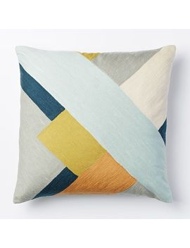 crewel-modern-blocks-pillow-cover---pale-harbor by west-elm