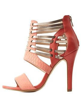 color-block-huarache-caged-strappy-heels by charlotte-russe