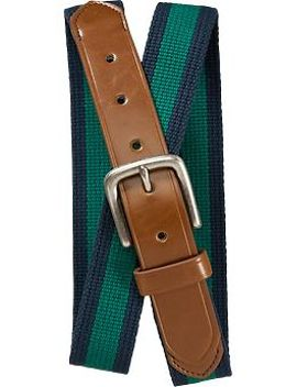 mens-striped-canvas-belts by old-navy