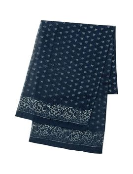 men-pure-blue-japan-printed-stole by uniqlo
