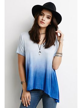 dip-dyed-trapeze-tee by forever-21