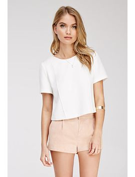 boxy-pintucked-top by forever-21