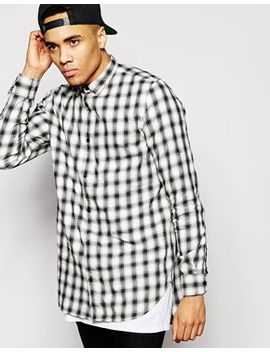river-island-long-sleeve-longline-check-shirt by river-island