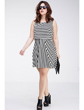 layered-stripe-dress by forever-21