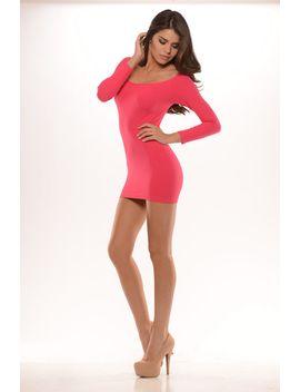 long-sleeve-fitting-mini-dress by fashion-nova