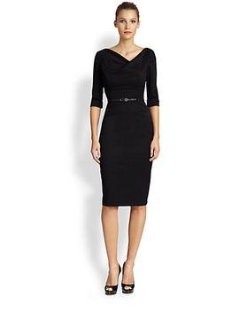jackie-o-three-quarter-sleeve-dress by black-halo