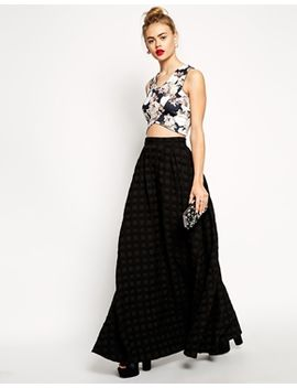 asos-premium-maxi-skirt-in-textured-weave by asos-collection