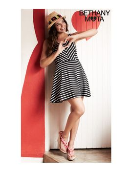 striped-ponte-dress by aeropostale
