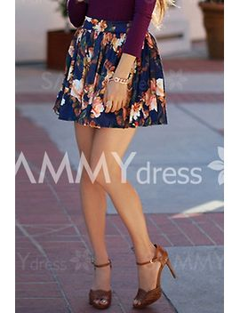 stylish-high-waisted-floral-print-ruffled-skirt-for-women by sammy-dress